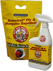 Picture of Bye Bye Insects spray bottle and refill pouch