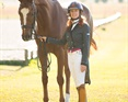 Angelea with her Grand Prix dressage horse, Hansel.