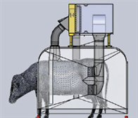 Top Ducts Collects Horn Flies Off Back While Side Ducts Collect Belly & Udder Flies.