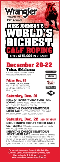 World S Richest Calf Roping And Invitational Barrel Race