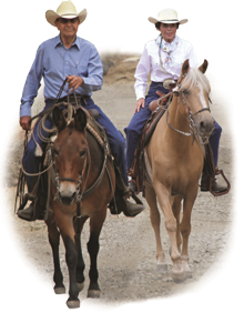 Dr. Robert M. Miller, Horseback Riding with wife, Debby.