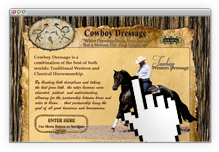Go to www.cowboydressage.com
