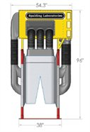 3d rendering of Cow Vac Exit Side View.